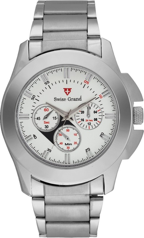 Swiss Grand S SG 0800White Analog Watch For Men