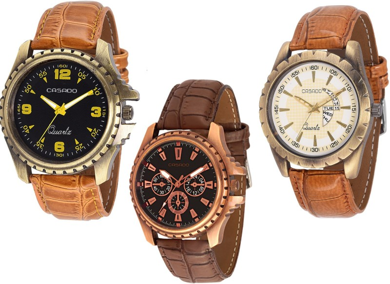 Casado 155nd720nd112 COMBO OF 3 BELIEVE Analog Watch For Men