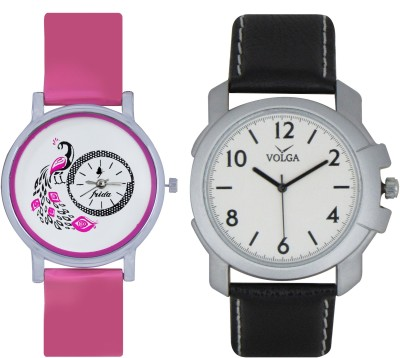 Frida Designer VOLGA Beautiful New Branded Type Watches Men and Women Combo80 VOLGA Band Analog Watch  - For Couple