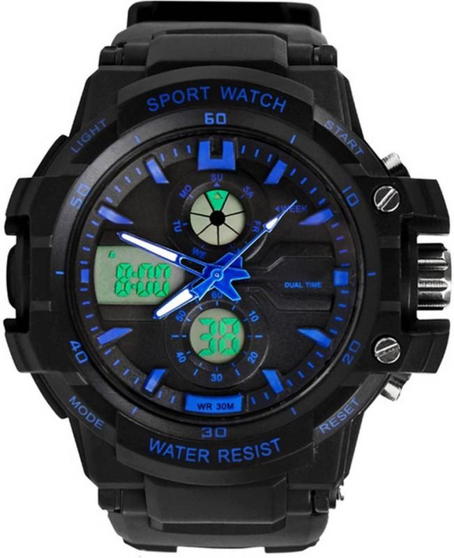 Abrexo S kmei 0990BLU Rugged Analog Digital Watch For Men