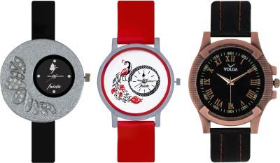Frida Designer VOLGA Beautiful New Branded Type Watches Men and Women Combo350 VOLGA Band Analog Watch  - For Couple