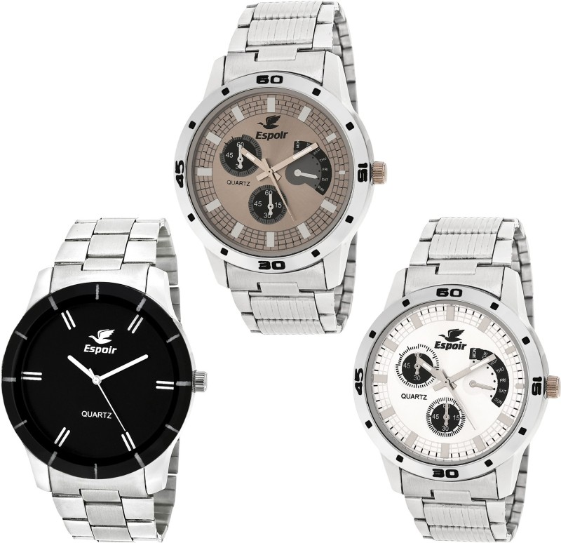 Espoir Combo ES109 ES109P Bahu Chronograph Pattern Analog Watch