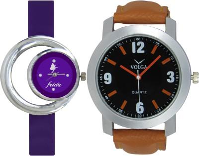 Frida Designer VOLGA Beautiful New Branded Type Watches Men and Women Combo133 VOLGA Band Analog Watch  - For Couple