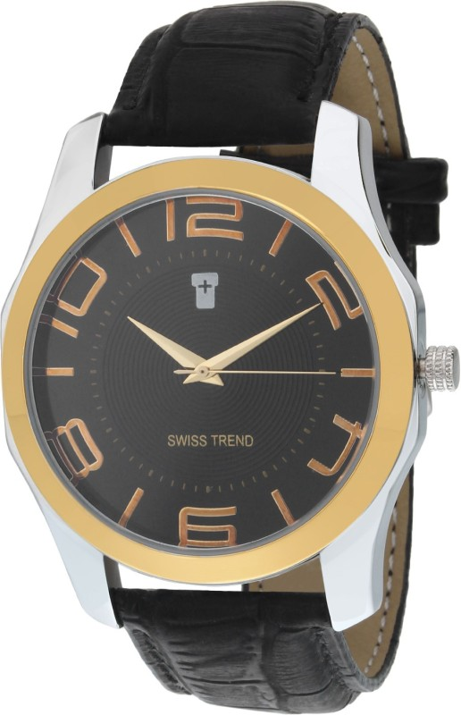 Swiss Trend ST2120 Golden Finish Analog Watch For Men