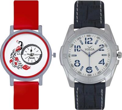 Frida Designer VOLGA Beautiful New Branded Type Watches Men and Women Combo166 VOLGA Band Analog Watch  - For Couple