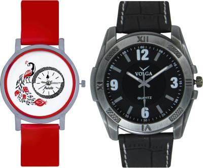 Frida Designer VOLGA Beautiful New Branded Type Watches Men and Women Combo176 VOLGA Band Analog Watch  - For Couple