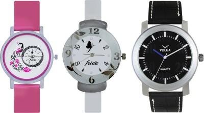 VOLGA Designer FVOLGA Beautiful New Branded Type Watches Men and Women Combo167 VOLGA Band Analog Watch  - For Couple