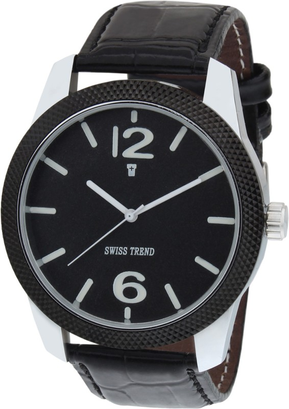 Swiss Trend ST2024 Black Stunning Analog Watch For Men