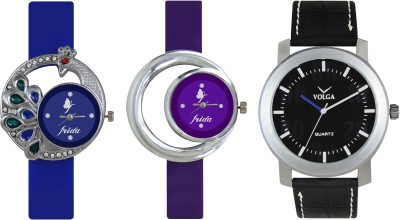 VOLGA Designer FVOLGA Beautiful New Branded Type Watches Men and Women Combo127 VOLGA Band Analog Watch  - For Couple