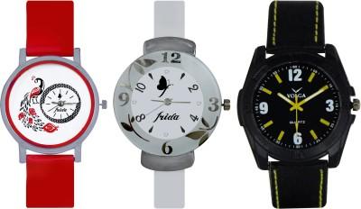 Frida Designer VOLGA Beautiful New Branded Type Watches Men and Women Combo751 VOLGA Band Analog Watch  - For Couple