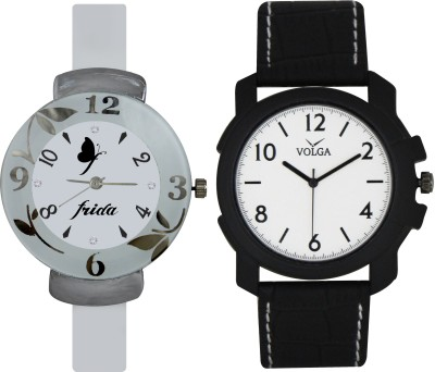 Frida Designer VOLGA Beautiful New Branded Type Watches Men and Women Combo192 VOLGA Band Analog Watch  - For Couple