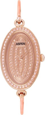 ASPEN AP1141A Aspen Rose Dial Ladies Watch- Be Jewelled-AP1141A Analog Watch - For Women