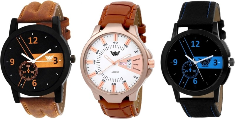Abrexo Abx 7012 Combo Fashion Series Analog Watch For Men