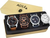 Agile AGC024 Agile Exclusive Combo Of 4 for Men Analog Watch F