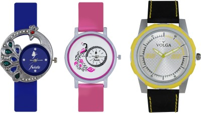VOLGA Designer FVOLGA Beautiful New Branded Type Watches Men and Women Combo123 VOLGA Band Analog Watch  - For Couple