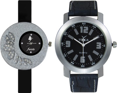 Frida Designer VOLGA Beautiful New Branded Type Watches Men and Women Combo24 VOLGA Band Analog Watch  - For Couple