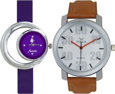 Frida Designer VOLGA Beautiful New Branded Type Watches Men and Women Combo132 VOLGA Band Analog Watch  - For Couple