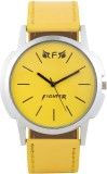 Fighter New Latest Casual Yellow Leather...