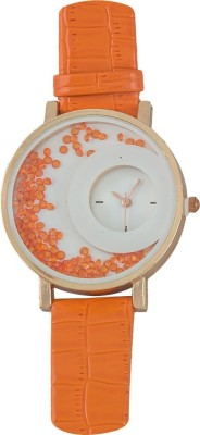Style Feathers SF-HalfMoon-Orange Analog Watch  - For Women