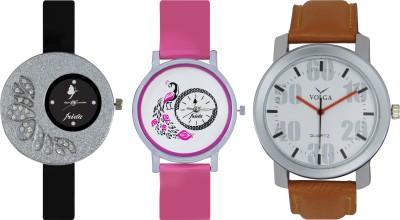 Frida Designer VOLGA Beautiful New Branded Type Watches Men and Women Combo280 VOLGA Band Analog Watch  - For Couple