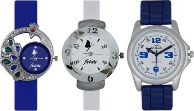 Frida Designer VOLGA Beautiful New Branded Type Watches Men and Women Combo520 VOLGA Band Analog Watch  - For Couple