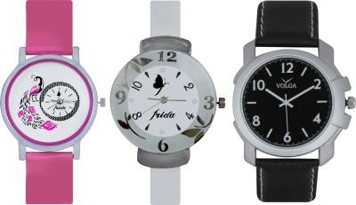 Frida Designer VOLGA Beautiful New Branded Type Watches Men and Women Combo658 VOLGA Band Analog Watch  - For Couple