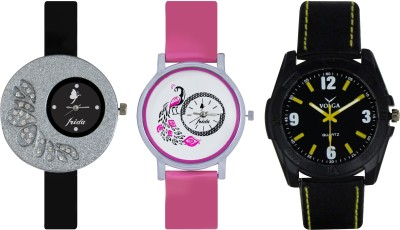 Frida Designer VOLGA Beautiful New Branded Type Watches Men and Women Combo270 VOLGA Band Analog Watch  - For Couple