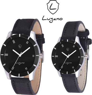 Lugano DE 1016 Analog Watch  - For Couple