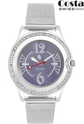 Costa Swiss CS-9005 Diva Purple Analog Watch  - For Girls, Women