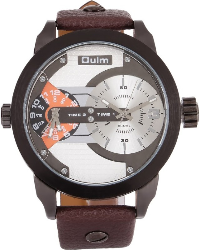 Oulm HP3221WHOR Analog Digital Watch For Men