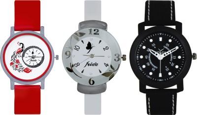 Frida Designer VOLGA Beautiful New Branded Type Watches Men and Women Combo749 VOLGA Band Analog Watch  - For Couple