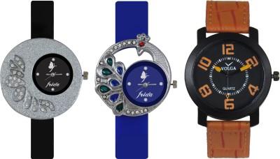 Frida Designer VOLGA Beautiful New Branded Type Watches Men and Women Combo236 VOLGA Band Analog Watch  - For Couple
