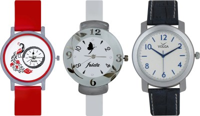 Frida Designer VOLGA Beautiful New Branded Type Watches Men and Women Combo745 VOLGA Band Analog Watch  - For Couple
