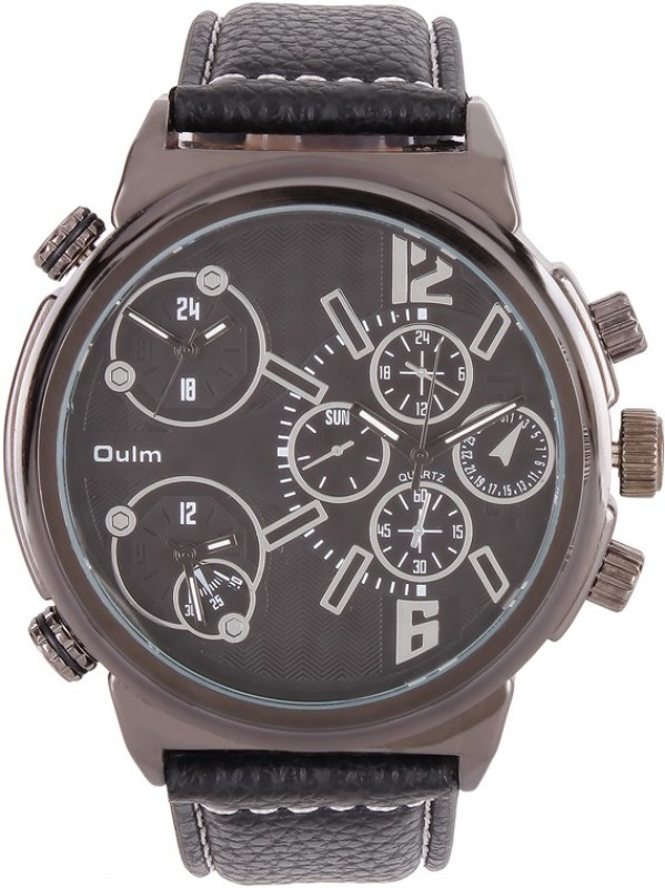 Oulm HP3299GUNBL Analog Digital Watch For Men