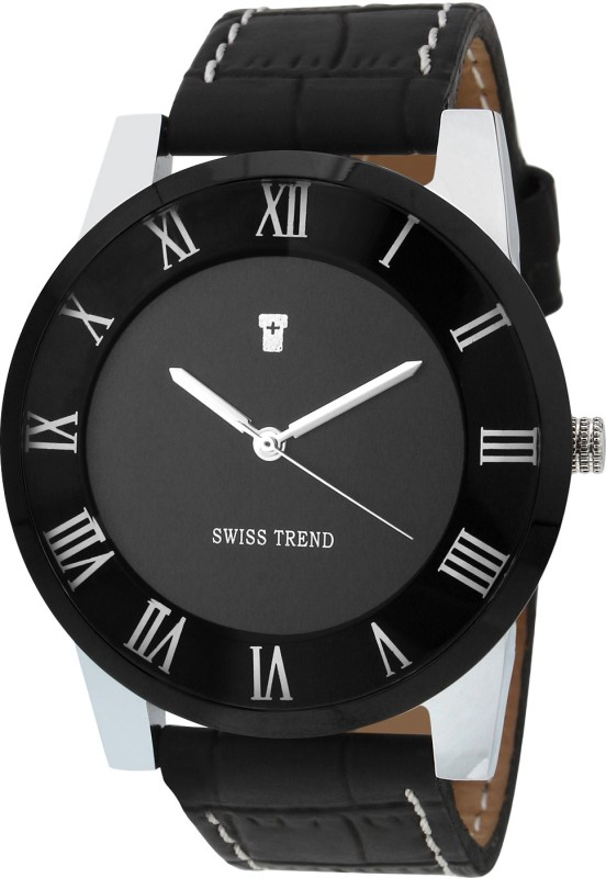 Swiss Trend ST2157 Roman Number Case Analog Watch For Men