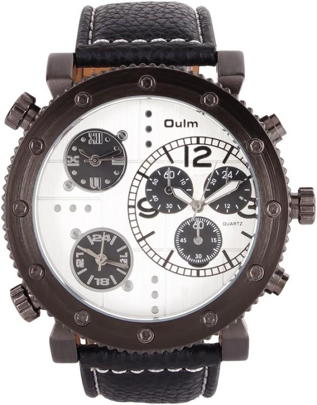 Oulm HP3421GUNWH Analog Digital Watch For Men