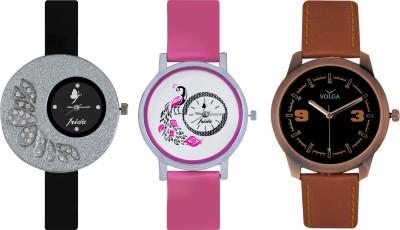 Frida Designer VOLGA Beautiful New Branded Type Watches Men and Women Combo274 VOLGA Band Analog Watch  - For Couple