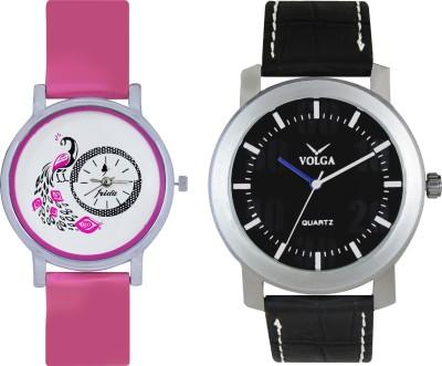 VOLGA Designer FVOLGA Beautiful New Branded Type Watches Men and Women Combo49 VOLGA Band Analog Watch  - For Couple