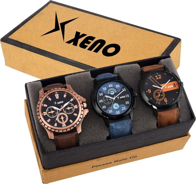 Xeno New Look Fashion Stylish Chronograph Pattern Titanium Triple