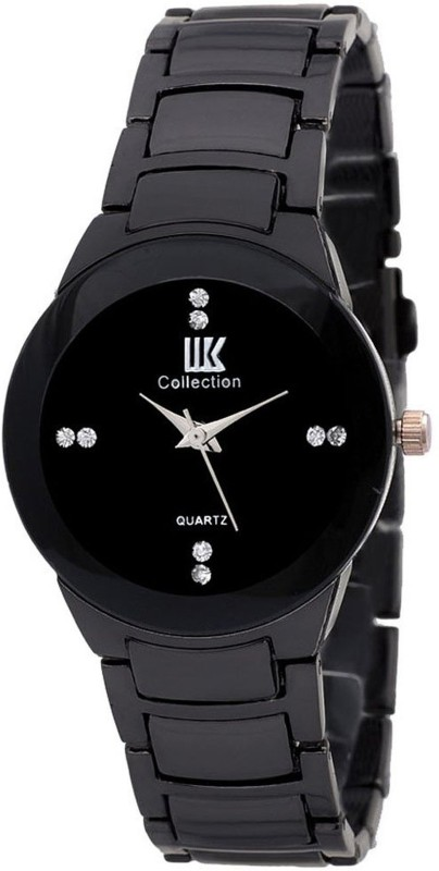 IIK Collection Gold Black Analog Watch For Women