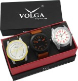 VOLGA VLW05-19-29-43 Mens Leather Belt Combo With Designer Stylish Branded Trendy box Analog Watch  - For Men