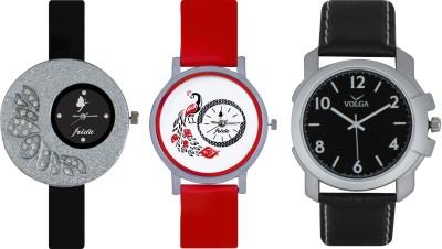 Frida Designer VOLGA Beautiful New Branded Type Watches Men and Women Combo362 VOLGA Band Analog Watch  - For Couple
