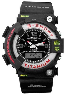 Elwin s showy titanium dual time Analog-Digital Watch  - For Boys, Men