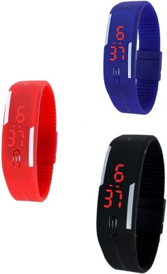 RTimes Silicon Jelly Led Combo Digital Watch  - For Men, Women, Boys, Girls, Couple