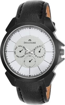 Swisstone SW-GR026-WHT-BLK Analog Watch  - For Boys, Men