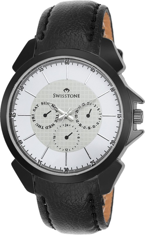 Swisstone SW GR026 WHT BLK Analog Watch For Men