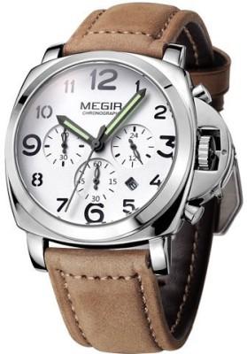 Megir 3406-Silver Analog Watch  - For Men