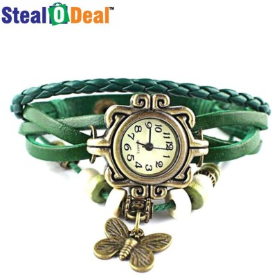 Stealodeal Green Rakhi Butterfly Analog Watch  - For Boys, Couple, Girls, Men, Women