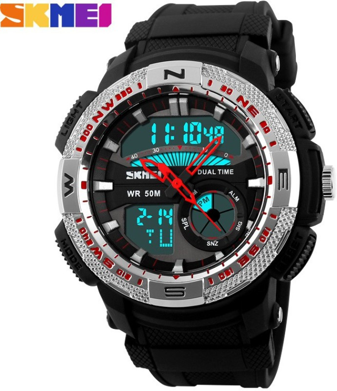 Skmei Marks 1109 Sil Sports Analog Digital Watch For Men