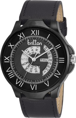 Britton BR-GR4816-BLK-BLK Rado Series Analog Watch  - For Men, Boys